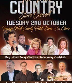 The Irish Country Stars Concert  -Tue 2nd Oct 2018