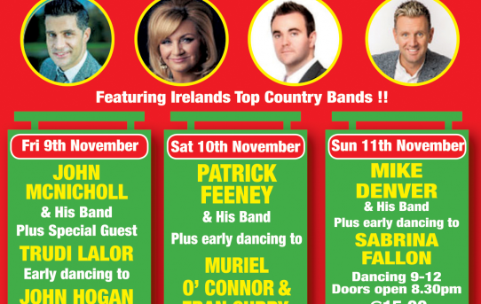 Kilkenny goes Country Nov 9th 10th 11th