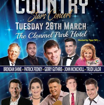 Irish Country Stars Concert -Tue 26th March