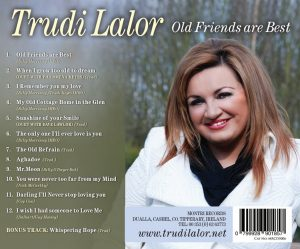 trudilalor.com CD cover Old Friends are best by Trudi Lalor